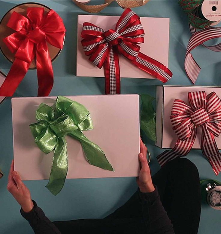 how to make ribbon gift bow