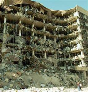 The Oklahoma city Federal Building bombing..what a tragedy~