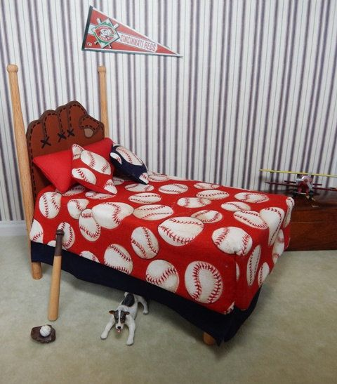 Dollhouse Miniature 112 Scale Baseball Bed Handmade By Susanaklein 4200