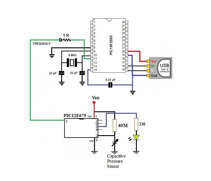 Digital Barometer using PIC Microcontroller and MPX4115A Pressure Sensor – XC8