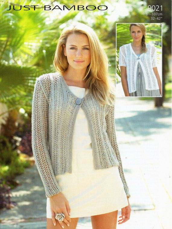 womens cardigan knitting pattern PDF ladies lacy by Hobohooks