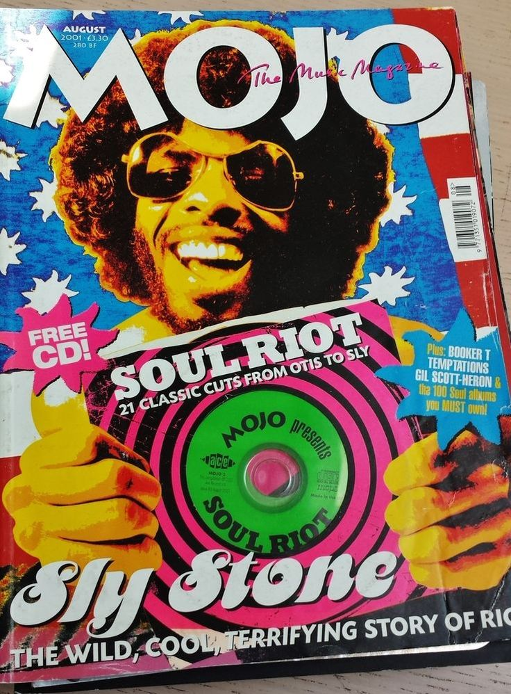 Mojo Magazine 93 Aug. 2001 Soul Riot Free Cd Otis Sly Stone Booker T Temptations