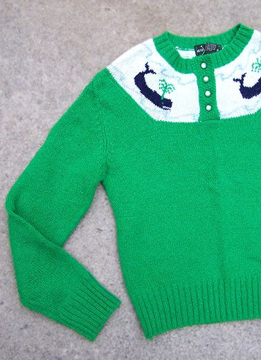 1980's preppy sweater.. That's right.