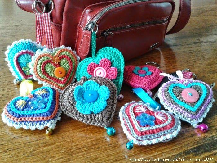 Todo crochet: Paso a paso de corazones al crochet: idea para regalar