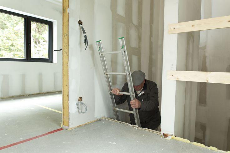Woning in aanbouw te Brasschaat tijdens de openwerfdag, foto Annemie van Roey, 1508WILD stam.be
