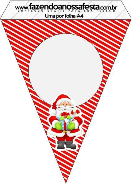 Bandeirinha Varalzinho Natal Vermelho e Verde