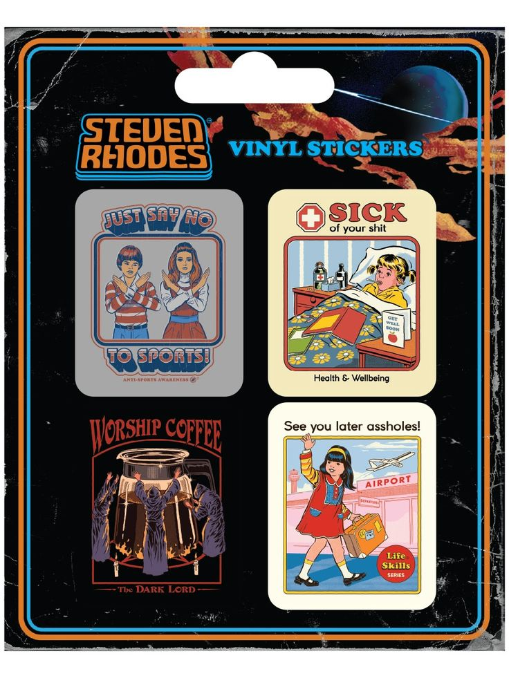 Steven Rhodes (Collection) Vinyl Sticker Pack Buy Online