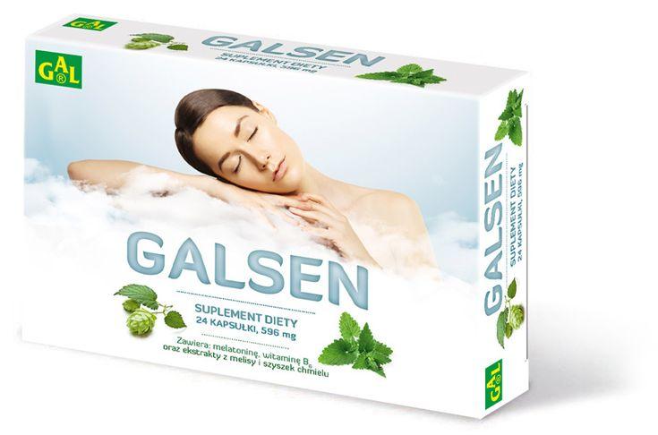 GALSEN // Preparat zawiera kompozycję składników posiadających dobroczynny wpływ na spokojny sen (melisa, szyszki chmielu, melatonina, witamina B6) http://www.gal.com.pl/produkty/suplementy-diety/galsen.html