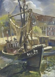 Erasmus Herman Van Dulmen Krumpelman - Sailing Ship At The Harbour Of Harlingen