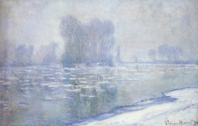 Claude Monet - Ice Floes, Misty Morning 1894
