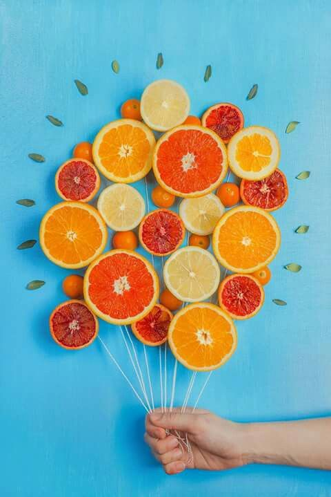 Orange lemon art