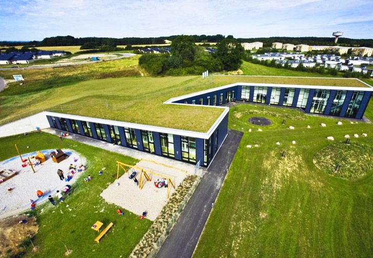 Bernts Have Day Care Center is a Green-Roofed Paradise for Children in Denmark | Inhabitat - Green Design, Innovation, Architecture, Green Building