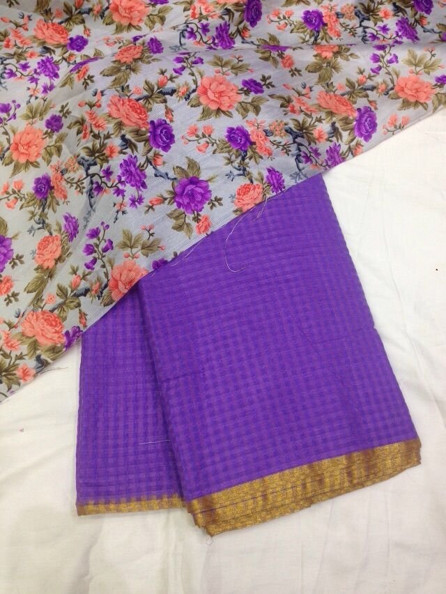 Kota weaving saree with golden border with floral blouse To purchase mail us at houseof2@live.com or whatsapp us on +919833411702 for further detail #sari #saree #saree #sarees #sequin #silver #sareeday #sareelove #traditional #traditionalwear #india #indian #instagood #indianwear #indooutfits #indianfashion #floral #fashion #fashionblogger #like #houseof2