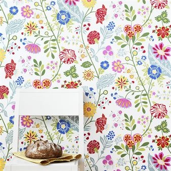 Amelie wallpaper - lightgreen - Sandbergs Tyg & Tapet
