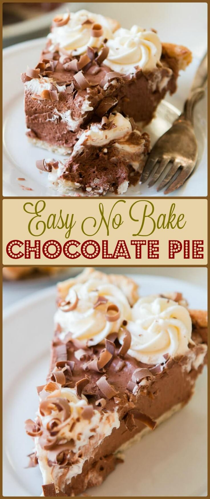 Have you ever wondered how to make chocolate pie at home? Let's learn how to make an easy no bake chocolate pie with chocolate Jell-o pudding to thicken. ohsweetbasil.com