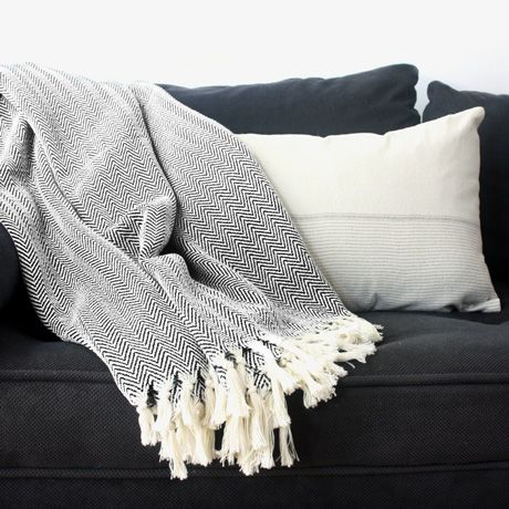 Herringbone Blanket - Blk/Wht - alt_image_three