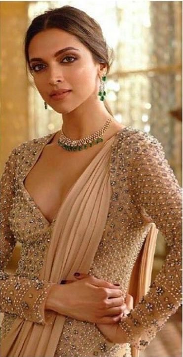 Deepika Padukone looking ethereal in a bead encrusted ensamble.
