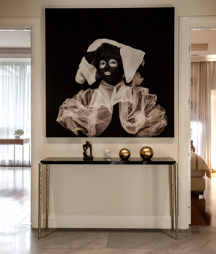 Apartment on Patriarshy . Hall, modern art & Villiers brothers console.