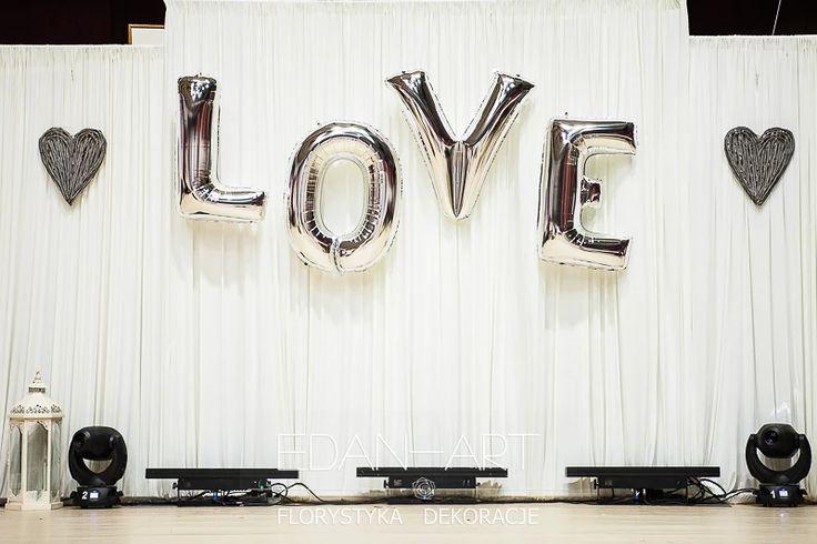 Napis LOVE- Dekoracje EDAN-ART www.edan-art.pl #ednart   #balonowelove