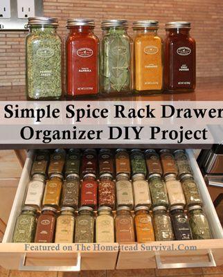 Spice Rack Simple Spice Rack Drawer Organizer DIY Project