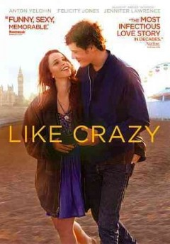 """Like Crazy (DVD)--Like Crazy beautifully illustrates how your first real love is as thrilling and blissful as it is fragile. When a British college student (Felicity Jones,) falls for her American classmate (Anton Yelchin), they embark on a passionate and life-changing journey only to be separated by circumstances beyond their control. ?Crazily inventive & totally irresistible,"""""""" """""""" Like Crazy explores how a couple faces the real challenges of being together and of being apart."""