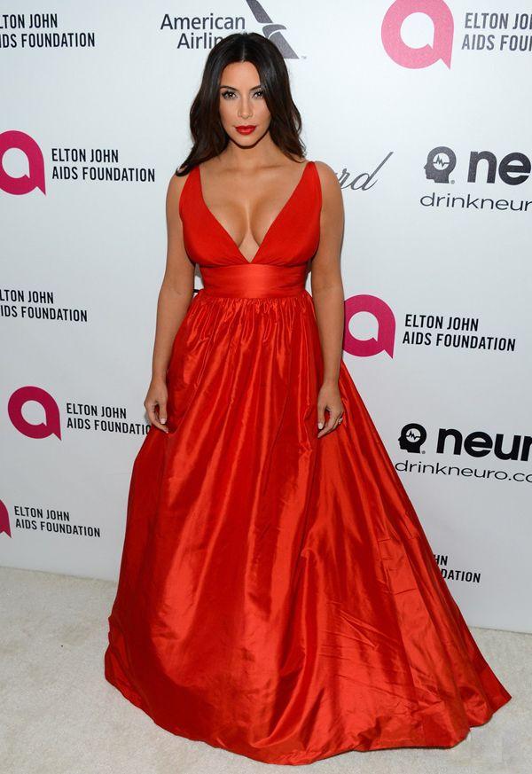 Kim k red dress oscars kevin