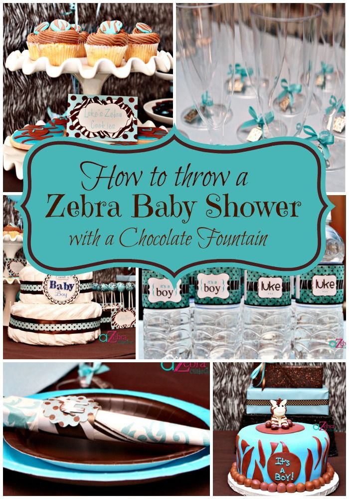 zebra baby showers baby shower