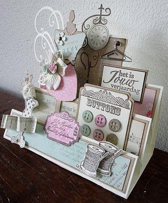 Cute Vintage Stair Step Card