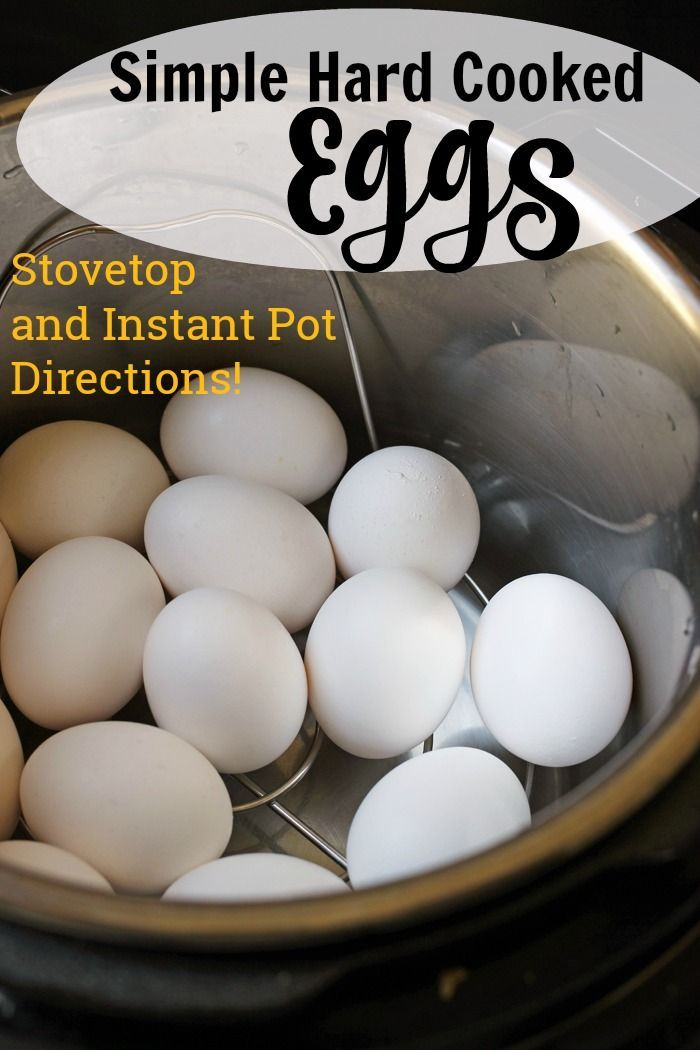 Simple Hard Cooked Eggs (Stovetop and Instant Pot Directions) | Good Cheap Eats - Eggs are a delicious and frugal protein. Learn how easy it is to make simple hard cooked eggs perfect every time with both stovetop and instant pot directions.  #eggs #instantpot #pressurecooker