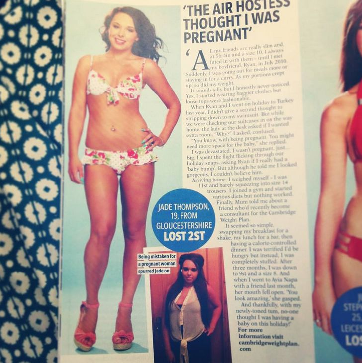 Cambridge Weight Plan in Reveal magazine (Aug 2013)