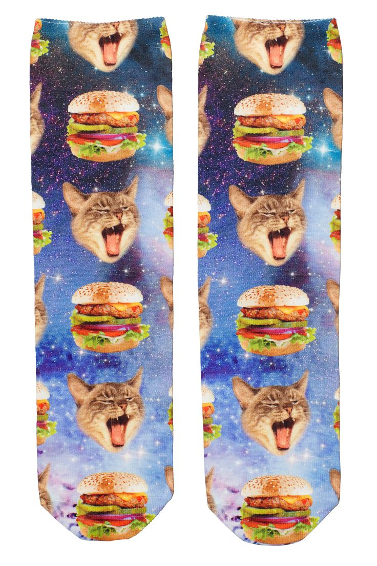 Monki | Digital printzess | Flora Sock Hamburger Kitty
