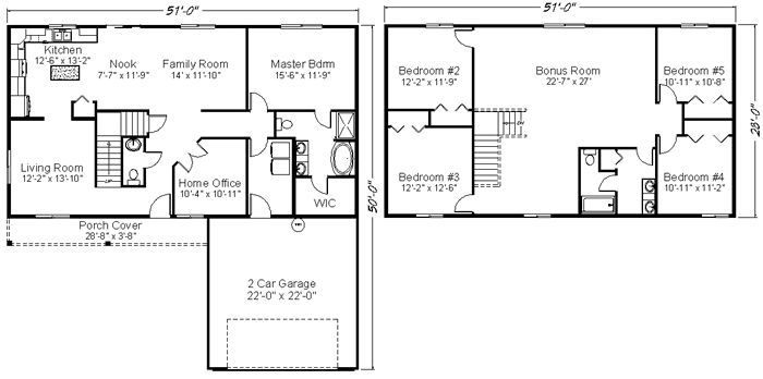 Reality homes muirfield north 2800 sq ft 127 900 huge for 2800 square foot house plans