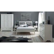 Lipari White Painted King (150cm) Bedstead