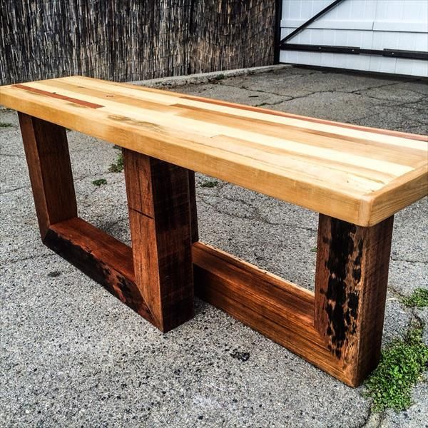 17 Best Images About Bench It On Pinterest Entryway Bench Pallet Wood And Outdoor Pallet