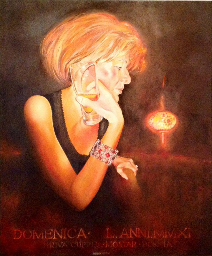 """Patrick Michel.                                 2011 """" Domenica  L"""".                                       Oil on canvas.                             30 x 36"""