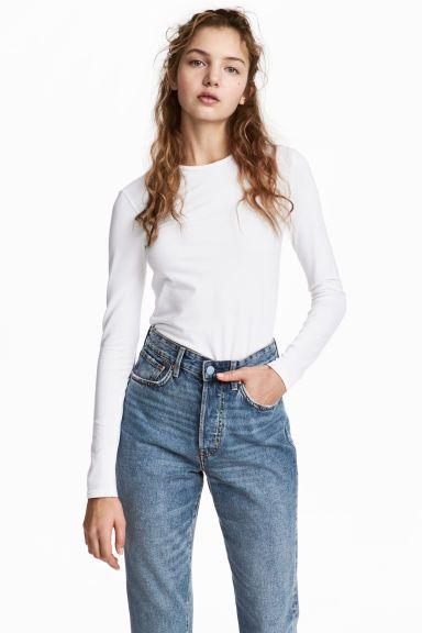 Top en jersey - Blanc - FEMME | H&M FR 1