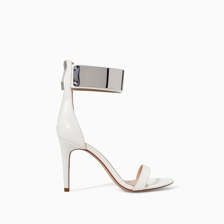 HIGH HEEL SANDAL WITH METALLIC ANKLE STRAP - Shoes - TRF - SALE | ZARA Canada Ref. 3803/301 59.90 CAD UPPER 100% POLYURETHANE LINING 40% POLYESTER 60% POLYURETHANE SOLE 100% VULCANIZED RUBBER