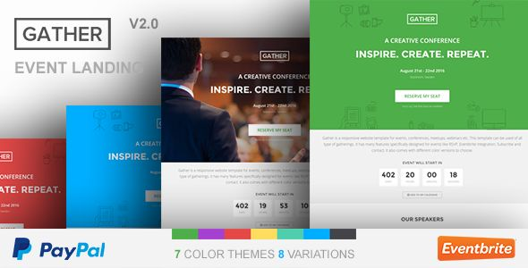 Gather - Event, Festival, Summit & Conference WP Landing Page Theme
