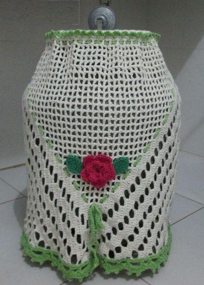 capa para botijão de gás, em barbante, tamanho padrão para botijão de gá de 13 Kg, R$ 40,00