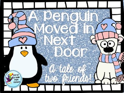 A Penguin Moved Next Door - Winter Reader with Writing & Retelling Activities from First Grade Fun Times on TeachersNotebook.com -  (19 pages)  - This is a printable reader with writing and retelling activities.