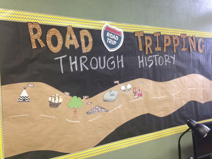 Make a History Timeline bulletin board with your students. Let them contribute to the board to show what they have learned.