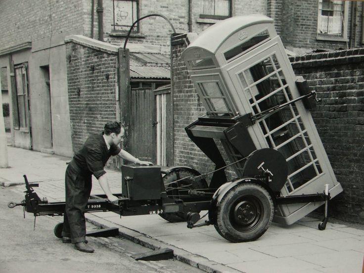 London Telephone box being installed on Beresford Road, Islington, London N1…
