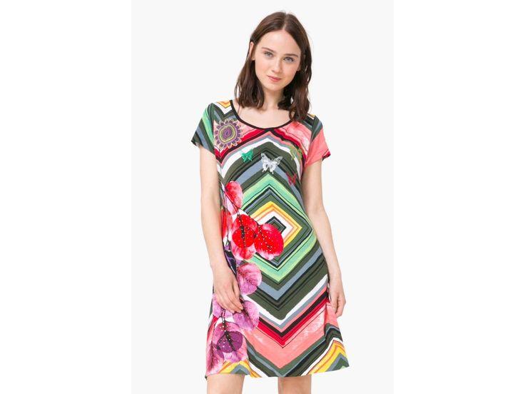 Dámské šaty Desigual Vest_Lebond.  Kolekce Jaro/Léto 2017  73V2EY9/4000