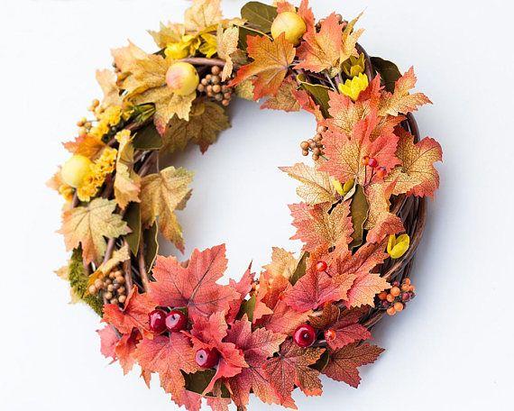 Fall wreath door wreath fall door decor outdoor fall decorations outdoor fall decorations wreaths for front door autumn wreath outdoor wreaths