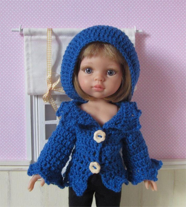 Ensemble gilet et béret au crochet pour poupée Paola Reina ou Les Chéries : Jeux, jouets par atelier-crochet