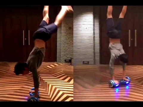 Watch Shah Rukh Khan Son Aryan does perfect a handstand ride