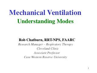 Mechanical ventilation, understanding modes.