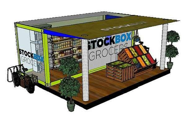 I think this is a very cool concept as a small all organic grocery store inside a storage container I'd like to see this as a small franchise pop up in the Market districts.