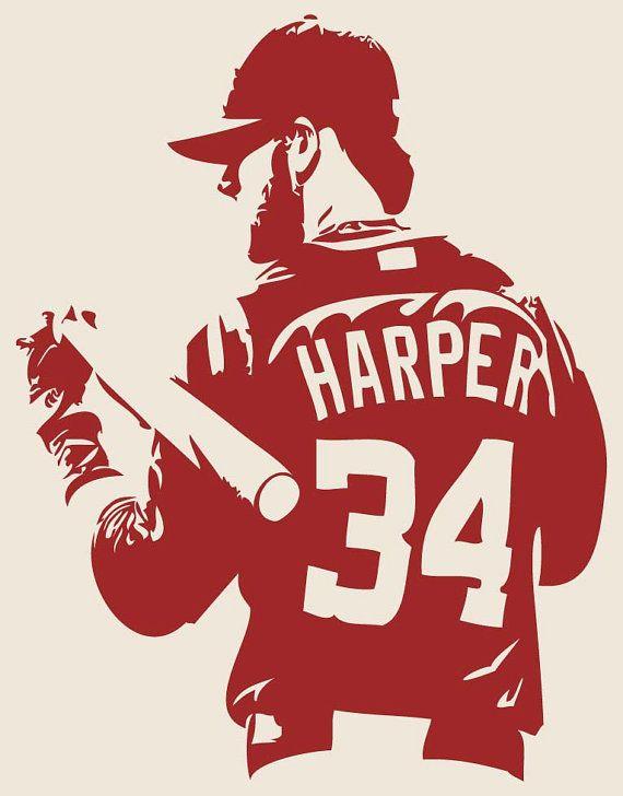 BRYCE HARPER Washington Nationals Baseball by IslandCustomDesigns, $34.99