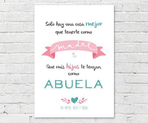 Deco > Láminas y Cuadros > Lámina Personalizada Blanca Mamá Abuela